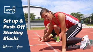 #Athletics101: How to set up and push off from starting blocks [Athletics for Beginners]