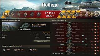Bat  Châtillon 25 t.  Вытащил 100% слив!!! Красава!!! Лучшие бои World of Tanks