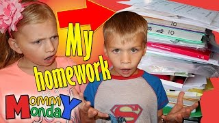MY TEACHER GAVE ME 500 PAGES OF HOMEWORK || Mommy Monday