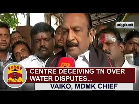 EXCLUSIVE--Centre-deceiving-Tamil-Nadu-over-Water-Disputes-Vaiko-MDMK-Chief-Thanthi-TV