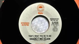 Thats What You Do To Me , Charly McClain , 1978