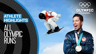 ALL Shaun White 🇺🇸 Olympic Snowboard runs | Athlete Highlights