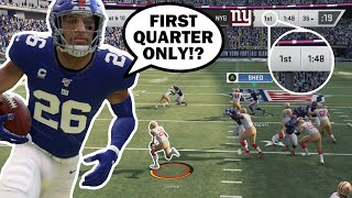 Madden BUT I'm only allowed to score in the FIRST QUARTER!!