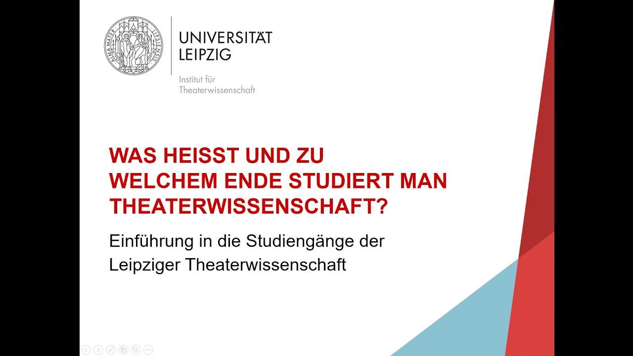 Einführung in die Leipziger Theaterwissenschaft