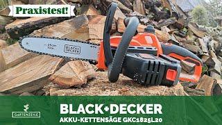Black+Decker Akku-Kettensäge 18V GKC1825L20 im Test!