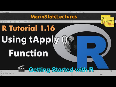 tapply() Function in R (R Tutorial 1.15)