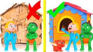New House VS Old House ❤ Cartoons For Kids
