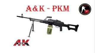 [ОБЗОР] A&K - ПКМ PKM AEG airsoft (страйкбол)