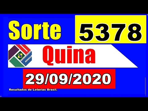 Quina 5378 - Resultado da Quina Concurso 5378
