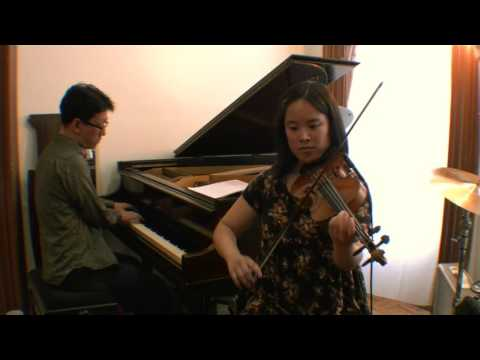 "My recent violin/piano duo demo! A swinging french song"" J'attendrai ""."