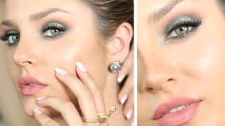 Elegant Emerald Holiday Makeup For Green/Brown/Hazel Eyes