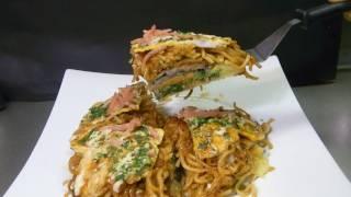 How to make Hiroshima style Okonomiyaki 広島風お好み焼きみたいなやつ