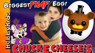 Biggest Five Nights at Freddy's Adventure TOY SURPRISE Hunt! Chuck E Cheese + Family Fun HobbyKidsTV