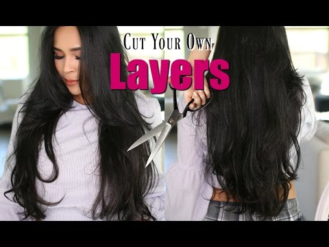 How I Cut My Own Hair In Long Layers & Face Frame  - MissLizHeart