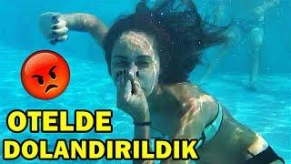 OTELDE DOLANDIRILDIK ODAYI SU BASTI !!
