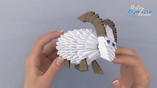 """Набор для творчества ЗD оригами """"Барашек"""" от компании Интернет-магазин """"Радуга"""" - школьные рюкзаки, канцтовары, творчество - видео"""