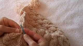 Женская весенняя шапка косами  ( сшиваем задний шов )