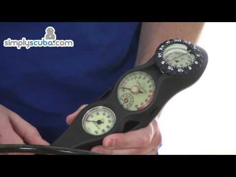 Sub Gear Triple Gauge – Pressure, Depth and Compass – www.simplyscuba.com