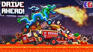 Drive Ahead ЦАРЬ ГОРЫ Безумное ВЫЖИВАНИЕ в Мультяшной игре про БИТВУ ТАЧЕК Драйв Ахед от Cool GAMES