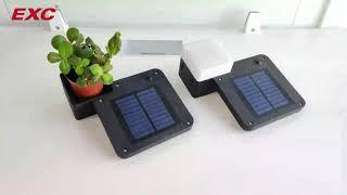 EXC-YR-Z03 solar wall light youtube video