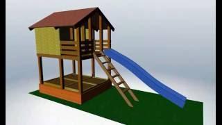 Sandkasten mit dem Kippdeckel an den Stelzenhaus anbauen