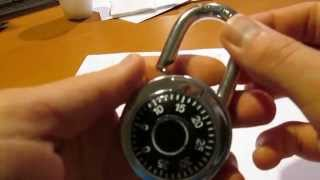 How to unlock a combination lock (no paper, no pens, no aluminum)