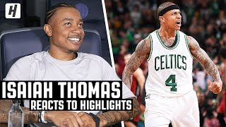 Isaiah Thomas Reacts To Isaiah Thomas Highlights!