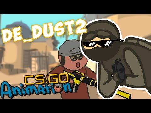 CS ANIMATION: DE_DUST2 (COUNTER-STRIKE PARODY)