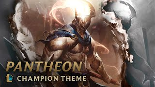 Listen to the official champion theme for Pantheon, The Unbreakable Spear, and watch some of the process behind his base and skin splash art.