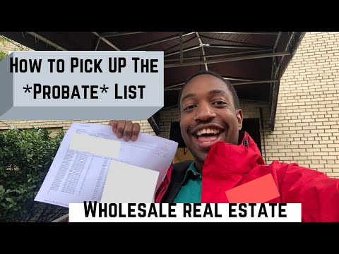 How to Pick Up PROBATE LEADS at the County Office for Wholesaling Real Estate