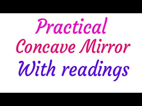 12th Concave Mirror with readings full Practical...