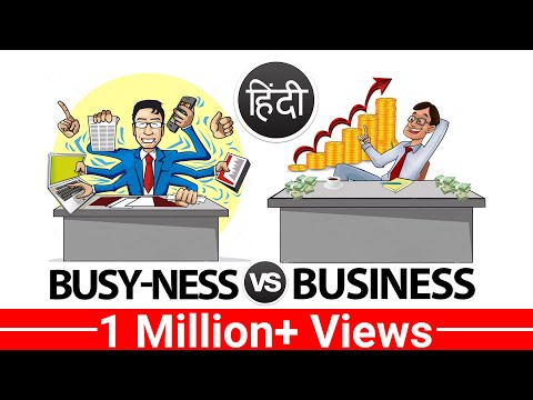 Busyness Vs Business  A Motivational Video in Hindi by Vivek Bindra