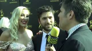 Freddie Smith & Alyssa Tabit at 2018 Daytime Emmy Awards Red Carpet