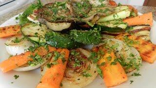 Ну, оОчень вкусные овощи на гриле (сковороде) - от шефа
