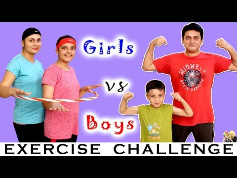 EXERCISE CHALLENGE Boys vs Girls | #Funny Family Challenge Healthy Game | Aayu and Pihu Show