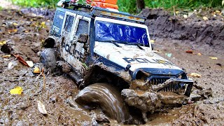 RC car stuck in the mud ! OFF-ROAD 4x4 extreme !