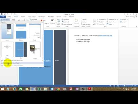 MS Word Course ∼ MyElesson.org
