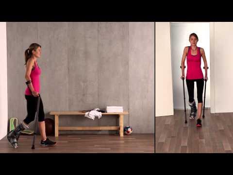Fuß Reha: 4-Punkt-Gang/Kreuzgang mit VACOped/Orthese