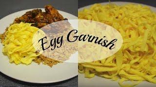 Recipe: Egg Garnish For Nasi & Bami, Ei Sliertjes  | CWF