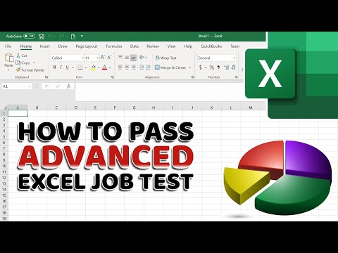 How To Pass Advanced Excel Test For Job Interview - YouTube