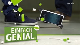 Schutz fürs Smartphone: Handyhülle federt Stürze ab   Einfach genial   MDR