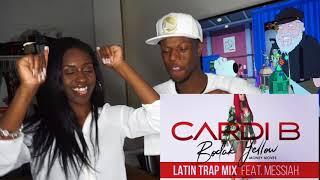 Cardi B  Bodak Yellow Latin Trap Mix Feat Messiah Official Audio REACTION