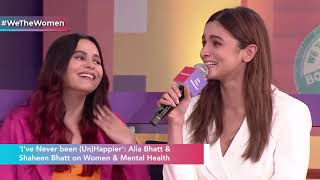 Alia Bhatt breaks down as sister Shaheen opens up on her battle with depression to Barkha Dutt