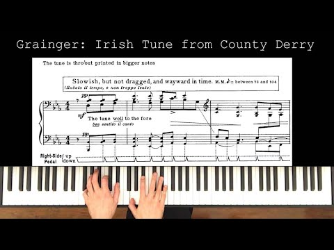 "Grainger's Irish Tune arrangement, more popularly know as ""Danny Boy"""