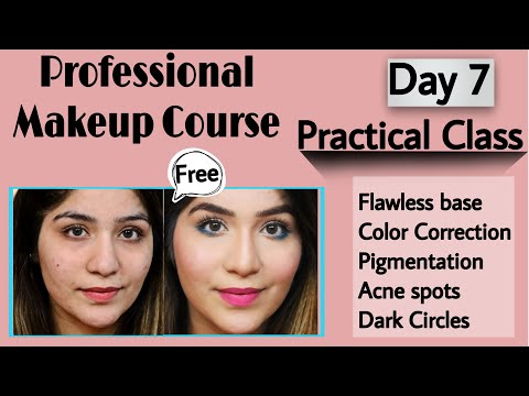 DAY 7 FREE PROFESSIONAL MAKEUP CLASS | Complete Makeup Course| Online Makeup Course|मेकअप कोर्स|