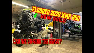 I Bought A FLOODED 2020 CAN-AM XMR 850 from the Salvage Auction