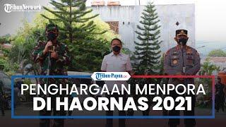 Haornas 2021, Menpora Beri Penghargaan ke Kapolri dan Panglima TNI