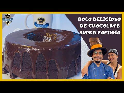 BOLO DE CHOCOLATE SUPER FOFINHO