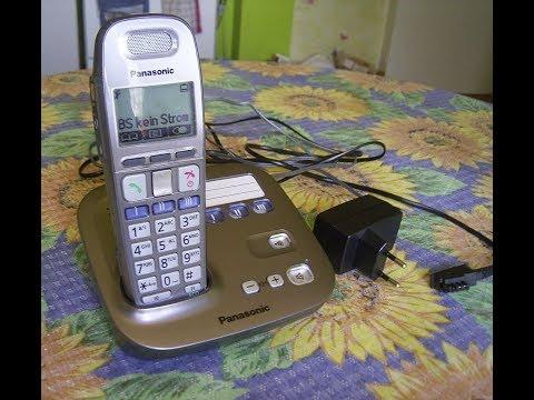Funktionsprüfung  Digitales Schnurlos Telefon  Panasonic KX-TG6571G, Cordless phone