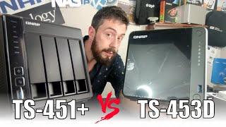 QNAP TS-453D  vs TS-451+ NAS Drive - OLD vs NEW Comparison